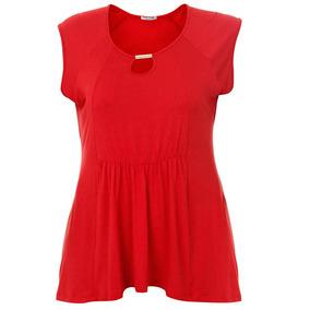 Blusa Plus Size Feminina Ponto Forte - Vermelho