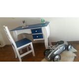 Escritorio Juvenil Infantil C/silla V/colores Moderno Madera