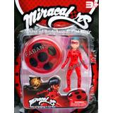 Muñeca Ladybug + Yoyo Miraculous Prodigiosa Set Juguete Niña
