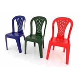 Sillas Plasticas Mayor Detal 4 Colores Disponible
