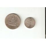 Moneda Conmemorativa Usa Medio Dolar 1976 Y 5 Centavos 2007