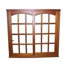 Ventanas Madera Algarrobo Vidrio Repartido - Vidrio Entero