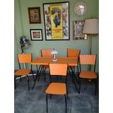 Conjunto De Mesa E Cadeiras Anos 60 Totalmente Restaurados !