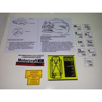 Kit Adesivos Corcel Porta Malas Motorcraft Cofre Do Motor