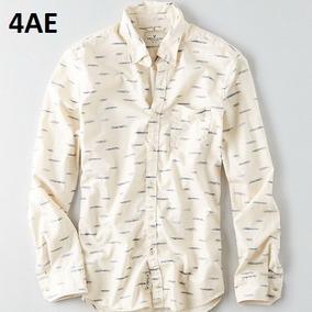 S, L - Camisa American Eagle Crema C4ae Ropa Hombre Original