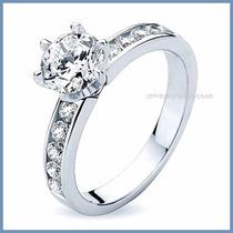 Anillo De Compromiso Diamante Natural .15ct Oro 10k -50% 001