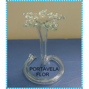 Portavela Flor Centros De Mesa Souvenirs 15