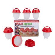Moldes De Silicona Para Hervir Huevos Silicone Egg Boil X 6