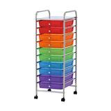 Cajonera De Colores 10 Cajones Multicolor Con Ruedas