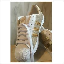 Zapatos Superstar Brillantes Escarchados Detalle