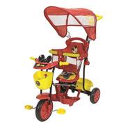 Triciclo Infantil Disney Mickey Y Cars Rojo Xg-8001