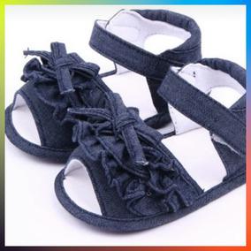 Sandalias En Jean Para Bebé No Caminante