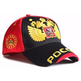 Gorra Visera Rusa Negro Rojo