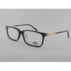Armação Oculos Grau Mont Blanc Mb55 Grafite Black Classic Armacoes ... ccda6bda77