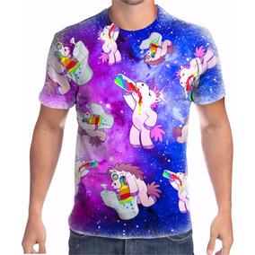Camiseta Personalizada Unicórnio Drink Psico