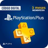 Playstation Plus3 Meses Suscripción Tarjeta Psn