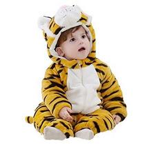 Pijama Mameluco Kigurumi Onesi Cosplay Disfraz Tigre Bebé