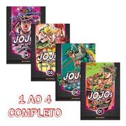 Jojo's Bizarre Battle Tendency 1 Ao 4 Completo! Panini! Novo