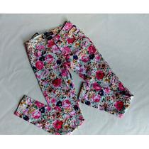 Pantalón Pantalones Strech Floreados Flores Jeans Moda 2017