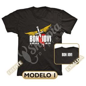 Bon Jovi Remeras Estampadas Tour 2017 Calidad Adultos Niños