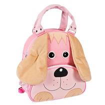 Mochila Infantil- Cachorro Rosa -bolsa Escolar Bebe Bichinho
