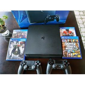 Playstation 4 Ps4 Slim + Jogos Mídia Fisica