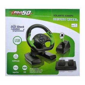 Volante Xbox 360 E Pc Dual Shock Pedal E Cambio Pro 50 Gamer