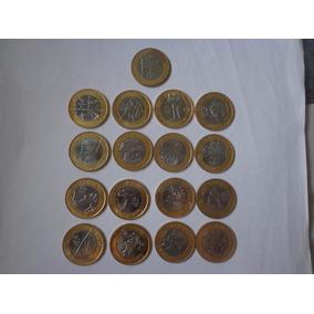 Coleção Moedas Olimpíadas Fc Completa - 17 Moedas