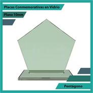 Trofeos En Vidrio O Cristal Pentagono Pulido Plano 10mm
