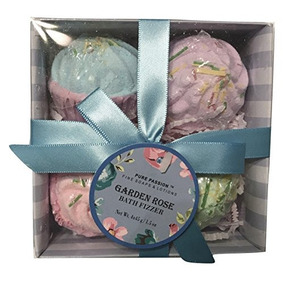 Pure Passion Garden Rose Bath Fizzer Gift Set Of 4