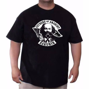 Remera Anarquia Bakunin Father Of Anarchy Talles Especiales