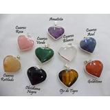 Dije Corazón Cuarzo Variedad Piedra Semipreciosa Artenora