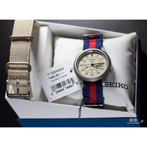 Relógio Automático Seiko 5 Beige Militar Com 2 Pulseiras!