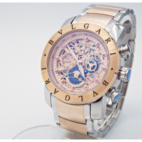 Reloj Bvlgari Subaqua Diagono Acero En Oro Rosa/chocolate