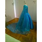 Disfraz Vestido De Elsa Frozen, Bella, Barbie C/enagua