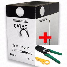 Bobina Cable De Red Utp 305m Cat 5e Rj45 Ethernet + Pinzas