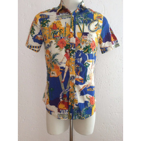 Camisa Tipo Hawaiiana Los Angeles California Hollywood