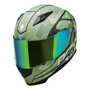 Casco Para Moto Kov Novak Warfare Verde Mate Integral Dot
