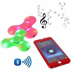 Fidget Spinner Luz Led Secuencia Bluetooth Audio Recargable!