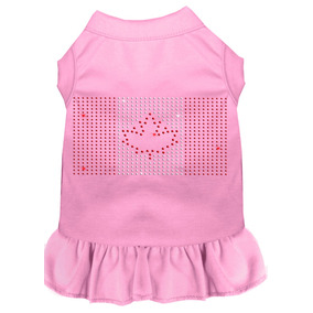 Vestido Bandera Canadiense Diamante De Imitación Rosa Luz 4