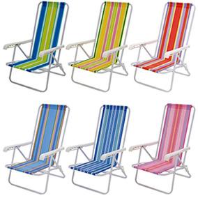 Cadeira De Praia Piscina Reclinável 4 Posições Aço 2004 Mor