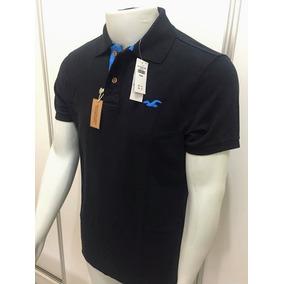 Camisa Polo Hollister Preta Original - Pronta Entrega 8f755dfaae8a9