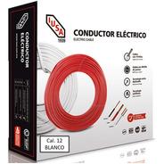 Caja 100 Mts Cable Iusa Blanco Thw Cal 12 Awg 100%cobre