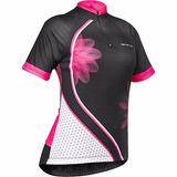 Camiseta Ciclista Feminina Lotus Com Proteção Uv+50 Fps