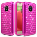 Para Motorola Moto E4 / E (4ta Gen) Teléfono Caso Híbrido