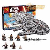 Halcon Milenario Leg Star Wars Falcon +1300 Marca Lep 75105
