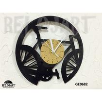 Original Reloj De Pared En Disco De Vinil - Bicicleta