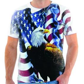 Camiseta Camisa Blusa Águia Azul Estados Unidos Simbolo 05