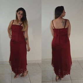 Vestido Longo Festa Renda Madrinha Casamento Formatura #vl6