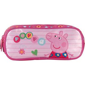 Estojo Peppa Pig Infantil Original Rosa 5245 Barato Desenho